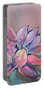 Lotus Iv Portable Battery Charger by Shadia Derbyshire
