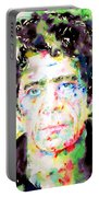 Lou Reed Watercolor Portrait.1 Portable Battery Charger