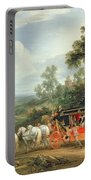 Louis Xiv In His State Coach Portable Battery Charger