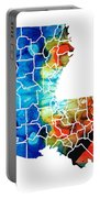 Louisiana Map - State Maps By Sharon Cummings Portable Battery Charger