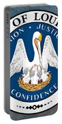 Louisiana State Seal Portable Battery Charger