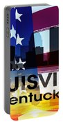 Louisville Ky Patriotic Large Cityscape Portable Battery Charger