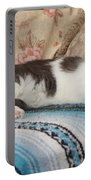 Lounging Cat Portable Battery Charger