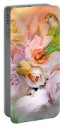 Love Among The Roses Portable Battery Charger by Carol Cavalaris