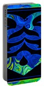 Love And Light Sharing Space Abstract Shapes And Symbols Artwork Portable Battery Charger