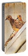 Love Birds On My Balcony Portable Battery Charger