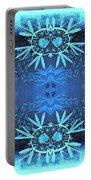 Love Blossom Ocean Turquoise Border Portable Battery Charger
