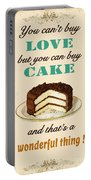 Love Cake Typography Portable Battery Charger