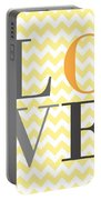 Love Chevron Yellow Portable Battery Charger