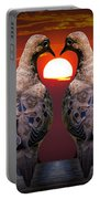 Love Dove Birds At Sunset Portable Battery Charger