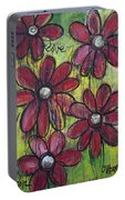 Love For Five Daisies Portable Battery Charger