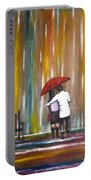 Love In The Rain Portable Battery Charger