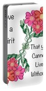 Love Is A Spirit Portable Battery Charger