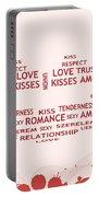 Love Kiss Digital Art Portable Battery Charger