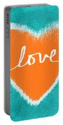 Love Portable Battery Charger by Linda Woods