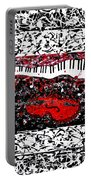 Love Music Memories Original Acrylic Painting  Portable Battery Charger