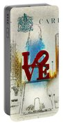 Love Park Post Card Portable Battery Charger