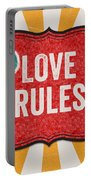 Love Rules Portable Battery Charger