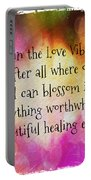Love Vibration Is Healing Energy Portable Battery Charger