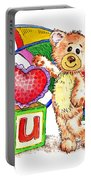 Love You Teddy Bear Portable Battery Charger