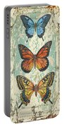 Lovely Butterfly Trio On Tin Tile Portable Battery Charger