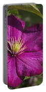 Lovely Magenta Pink Clematis Blossom Portable Battery Charger