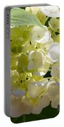 Lovely White Hydrangea Portable Battery Charger