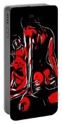 Lovers In Red Portable Battery Charger