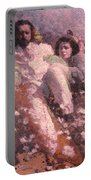 Lovers On The Beach Portable Battery Charger