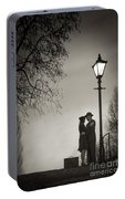 Lovers Say Goodbye Under A Streetlamp Portable Battery Charger
