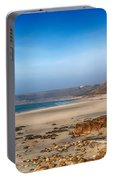 Low Tide At Sennen Cove Portable Battery Charger