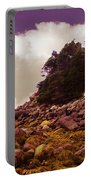 Low Tide Shoreline Closeup With Clouds Portable Battery Charger