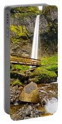 Lower Angle Of Elowah Falls In The Columbia River Gorge Of Oregon Portable Battery Charger