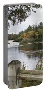 Lower Falls In Fall Portable Battery Charger