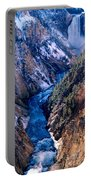 Lower Falls Into Yellowstone River Portable Battery Charger