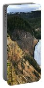 Lower Falls On The Yellowstone River Portable Battery Charger