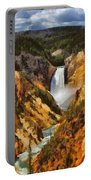 Lower Falls Yellowstone Portable Battery Charger