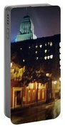Lower Water Street In The Fog Halifax Nova Scotia Portable Battery Charger
