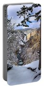 Lower Yellowstone Falls In October Portable Battery Charger