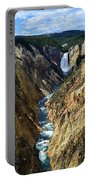 Lower Yellowstone Falls Panorama 2 Portable Battery Charger