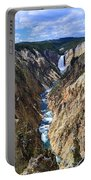 Lower Yellowstone Falls Panorama Portable Battery Charger