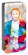 Luciano Pavarotti Paint Splatter Portable Battery Charger