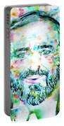 Luciano Pavarotti - Watercolor Portrait Portable Battery Charger
