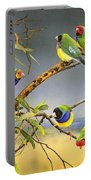 Lucky Seven - Gouldian Finches Portable Battery Charger