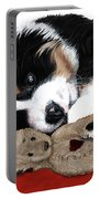 Lullaby Berner And Bunny Portable Battery Charger by Liane Weyers