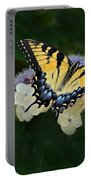 Luminous Butterfly On Lacecap Hydrangea Portable Battery Charger