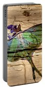 Luna Moth Worm Wood  Portable Battery Charger