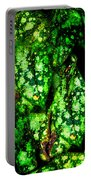 Lungwort Leaves Abstract Portable Battery Charger