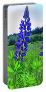 Lupine Flower Portable Battery Charger