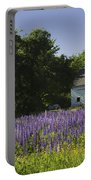 Lupine Flowers Near Round Pond Maine Portable Battery Charger